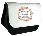 Travel Is The Healthiest Addiction Tribal Travel Quotes Motivational Clutch Bag Or Pencil Case - Black