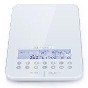 MARNUR Digital Nutrition Food Scale, Kitchen Scale for Food Nutritional Facts Accurate Calculate with LCD Display, Tare Feature and Auto Shut-off Function, Free Food Code List for Nutrition Tracking