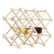 Wine Rack Wood Foldable Natural Wine Rack Wine Stand Wine Cabinet