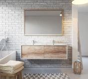 Bathroom cabinet Hawaii 120 cm basin nature wood - Storage cabinet vanity unit sink furniture