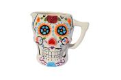 Skull Beer Wine Margarita Mug Ceramic Ceramic Talavera Day of the Dead Decorative Home Kitchen Design And Patio Garden Pottery