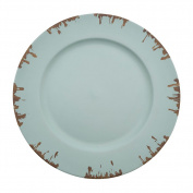 Fennco Styles Decorative Distressed Edge 33cm Charger Plates-Set of 4