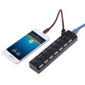 Vanpower USB 3.0 7 Ports Hub Splitter Adapter with ON/OFF Switch for Tablet Laptop