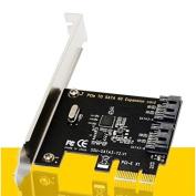 CALISTOUK Daul SATA III PORT Internal 6Gbps Ports to PCI-Expess Host Controller Card