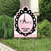 Paris, Ooh La La - Party Decorations - Paris Themed Birthday Party or Baby Shower Welcome Yard Sign