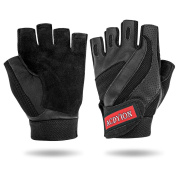 Gym Weight Lifting Gloves, Acdyion Fitness Leather Half Finger Gloves Breathable Safety, Weight lifting Gloves, Sports Gloves, Riding Racing, Bodybuilding
