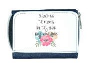 Blessed Are The Curious Tribal Travel Quotes Motivational Ladies Purse - Blue