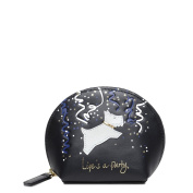 LIFE'S A PARTY SMALL ZIP-TOP COIN PURSE BLACK