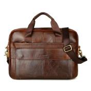 Men's Business Leather Lightweight Handbag Crossbody Bag,[ Work Briefcase Laptop Bag ] Fashion Messenger Bags,Stylish Waterproof Travel Shoulder Beach Bags