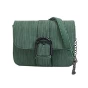 Women Vintage Belt Buckle PU Leather Lightweight Crossbody Bag Handbag Fashion Messenger Bags,Stylish Waterproof Travel Shoulder Beach Bags