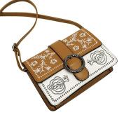 Women Vintage PU Leather Lightweight Crossbody Bag Handbag Fashion Messenger Bags,Stylish Waterproof Travel Shoulder Beach Bags