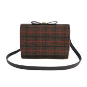 Women Woollen Handle Plaid Lightweight Crossbody Bag Handbag Fashion Messenger Bags,Stylish Travel Shoulder Bags