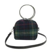 Women Woollen Ring Handle Plaid Lightweight Crossbody Bag Handbag Fashion Messenger Bags,Stylish Travel Shoulder Bags