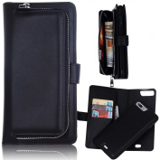 Flip Leather Case iPhone 7 Plus/8 Plus Mobile Long Detachable Girl Chick Wallet Purse Zip Ladies Wallet Purse PU Leather Women's Wallet Large Purse Organiser with many card slots Card Slots Card Holder and Magnetic Closure Pockets 14cm Bumper Walle ..