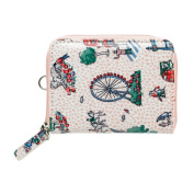CATH KIDSTON Cameo Pink London Spots Travel Purse