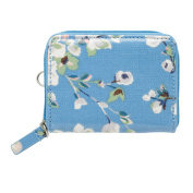 C/KID ZIPPED TRAVEL PURSE WELLESLEY BLOSSOM - SOFT BLUE