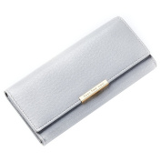 Bluelans Faux Leather Women's Coin Purse Card Holder Long Bifold Chequebook Wallet