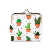 Nuohuilekeji Women Cute Cactus Snacks Bag Hasp Coin Purses Wallet Pouch Key Holder Accessory - 2#