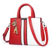 Women Girls Fashion Hit Colour Handbag Women Zipper Adjustable Patchwork Shoulder bag Splice Crossbody Bag 28cm*11cm*20cm
