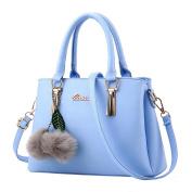 Vovotrade Women Fashion Ball Lichee Pattern Handbag Girls Zipper Adjustable Crossbody Bag Shoulder Bag Handbag 31cm(L)*13cm(W)*21cm(H)