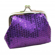 SWIDUUK Women Sequins Buckle Mini Change Coin Purse Clutch Handy Wallet Bag