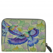 Anuschka Hand Painted Leather – Ladies Purses and Accessories Zip Around Credit Card Case