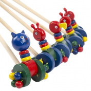 TOYMYTOY Wooden Push and Pull Toy Toddler Educational Toys 5pcs