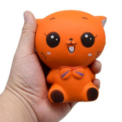 Soft Toys,Familizo queeze Jumbo Stress Stretch Cat Cream Squishy Scented Slow Rising Dolls Decompression Cure Gifts