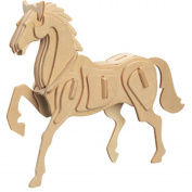 3D Wooden Horse Puzzle