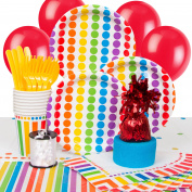 Rainbow Party Supplies Kit for 8