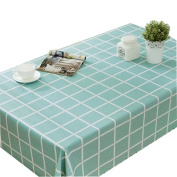 Plaid Garden Table Cloth Waterproof And Oil-Free Disposable-Mint Green