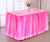 Table Skirt, outgeek Tulle Rectangular Table Decoration Table Cover Table Cloth for Party