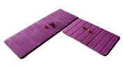 [Purple-2] 2 Pcs Absorbent Non-Slip Kitchen Rugs Kitchen Floor Mats