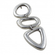Long 925 Sterling Silver Triple Drop Pendant Gift Boxed