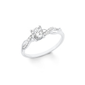 s.Oliver Women Silver Solitaire Engagement Ring - 2020859