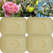"""Lot of 4 soaps 100g perfumed """"SHEA BUTTER"""" made from real soap Marseille by the soap factory Le Serail, one of the last 4 soap factories realising the real soap Marseille in France since 1949"""