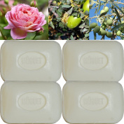 """Lot of 4 soaps 100g perfumed """"thrush flower"""" made from real soap Marseille by the soap factory Le Serail, one of the last 4 soap factories realising the real soap Marseille in France since 1949"""