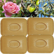 """Lot of 4 soaps 100g perfumed """"MONOÏ - FLOWERS OF TIARɔ made from real soap Marseille by the soap factory Le Serail, one of the last 4 soap factories realising the real soap Marseille in France since 1949"""