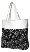 Finlayson Kuru Tote Bag with Lining, Cotton, Black/White, 45 x 42 cm
