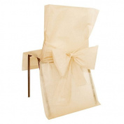 Table Decoration 10 x Disposable Chair Cream festive table