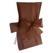 SANTEX 2975-14, Lot 10 Housses satin, chocolat