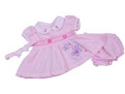 Nursery Time BNWT Baby Girls Smocked Butterfly Summer Dress Pink or White Newborn 0-3 3-6 m