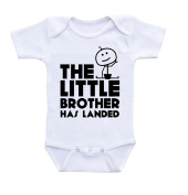 'The Little Brother Has Landed' Babygrow Toddler Body Suit