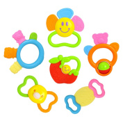YeahiBaby 6pcs Baby Silicone Molar Teether Toy Teething Chew Toy for Infant and Toddler