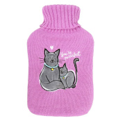 Cats hot water bottle