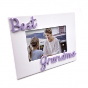 Best Grandma White Photo Frame With Raised Letters