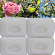 """Lot of 4 soaps 100g perfumed """"Donkey female milk"""" made from real soap Marseille by the soap factory Le Serail, one of the last 4 soap factories realising the real soap Marseille in France since 1949"""