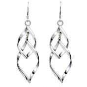 Elegent Drop Dangle Earrings for Women, KEERADS 925 Sterling Silver Leaf Eardrop Glittering Stud Earrings