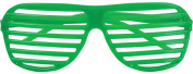 80's Neon Green Shutter Shade Toy Sunglasses Party Favours Costume Accessory