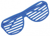 80's Neon Blue Shutter Shade Toy Sunglasses Party Favours Costume Accessory